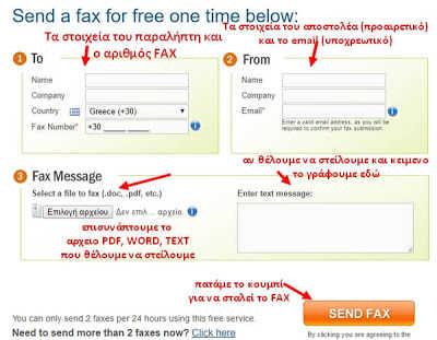 Στείλε δωρεάν FAX από τον υπολογιστή σου