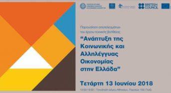 """Παρουσίαση αποτελεσμάτων του έργου τεχνικής βοήθειας """"Ανάπτυξη της Κ.Αλ.Ο. στην Ελλάδα"""""""