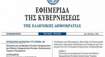 ΕΚΤΑΚΤΟ – Καταργείται Με Προεδρικό Διάταγμα η Διεύθυνση Κοινωνικής και Αλληλέγγυας Οικονομίας