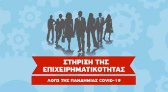 Ενίσχυση μικρών και πολύ μικρών επιχειρήσεων που επλήγησαν από την πανδημία COVID-19 (Προσκλήσεις σε όλη την Ελλάδα)
